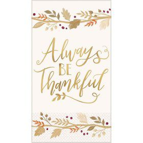 Always Be Thankful Guest Towels