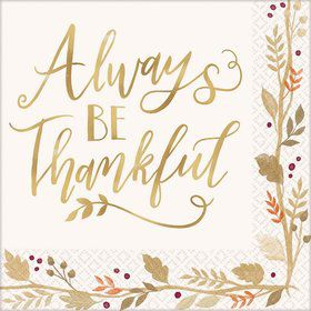 Always Be Thankful Lunch Napkins