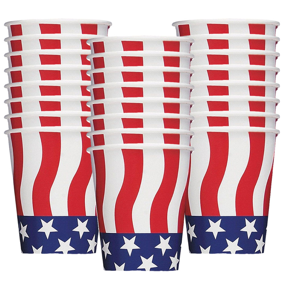 American Flag 9Oz Cups (8 Pack) BB21786