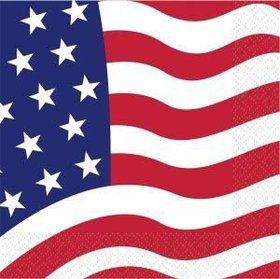 American Flag Beverage Napkins (16 Pack)