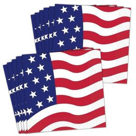 American Flag Luncheon Napkins (16 Pack)