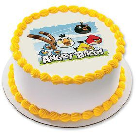 "Angry Birds 7.5"" Round Edible Cake Topper (Each)"