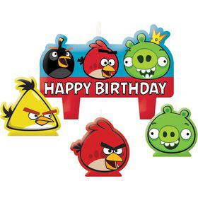 Angry Birds Candles (4-Pack)