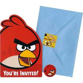 Angry Birds Invitations (8-pack)
