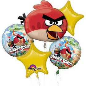Angry Birds Mylar Balloon Bouquet (each)