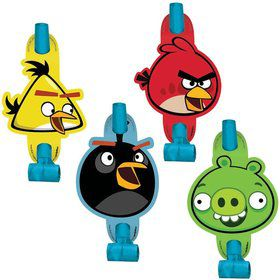 Angry Birds Party Blowers (8-Pack)