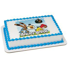 Angry Birds Quarter Sheet Edible Cake Topper (Each)