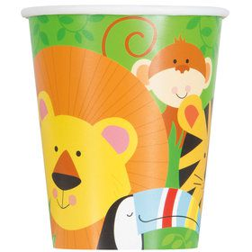 Animal Jungle 9oz Paper Cups (9 Count)