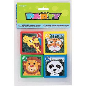 Animal Jungle Slide Puzzles (10 Count)