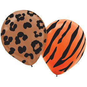 "Animal Print Latex Assorted 12"" Balloons (20 Pack)"