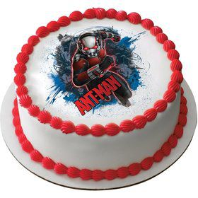 "Ant Man 7.5"" Round Edible Cake Topper (Each)"