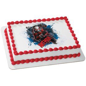 Ant Man Quarter Sheet Edible Cake Topper (Each)