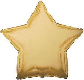 Antique Gold Star Foil Balloon