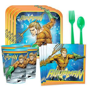 Aquaman Standard Tableware Kit (Serves 8)