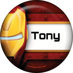 Armor Man Personalized Button (Each)