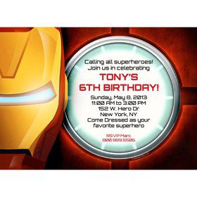 Armor Man Personalized Invitation (Each)