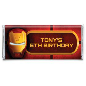 Armour Man Personalized Candy Bar Wrapper (Each)