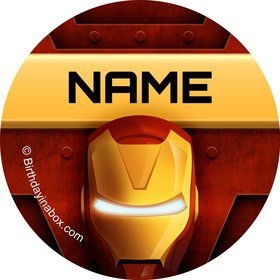 Armour Man Personalized Mini Stickers (Sheet of 20)