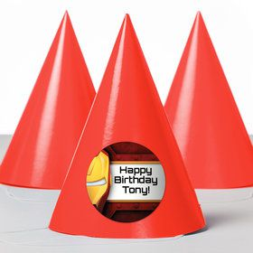 Armour Man Personalized Party Hats (8 Count)