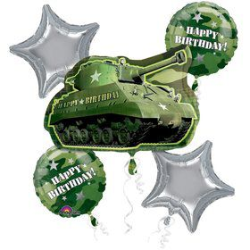 Army Balloon Bouquet (5 pack)
