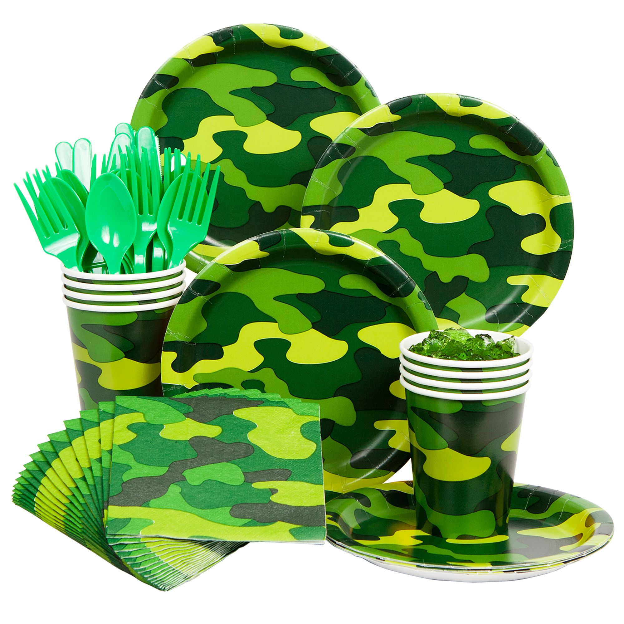 Army Standard Tableware Party Supplies Kit BB102118