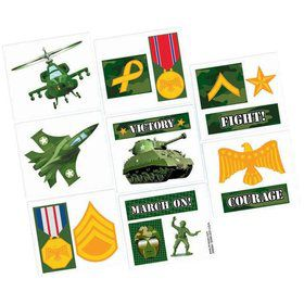 Army Camo Favor Tattoos (16 Pack)