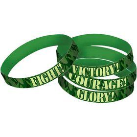 Army Camo Rubber Favor Bracelets (4 Pack)