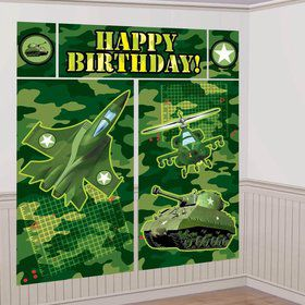 Army Camo Scene Setter Wall Decoration Kit (Each)