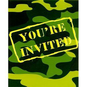 Army Invitations (8-pack)