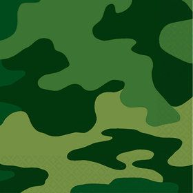 Army Party Beverage Napkins (16-pack)