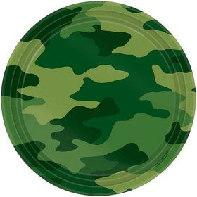 Army Party Cake Plates (8-pack)