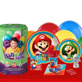 Super Mario Party 16 Guest Kit with Tableware and Helium Kit