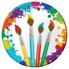 "Art Party 9"" Luncheon Plates (8 Count)"