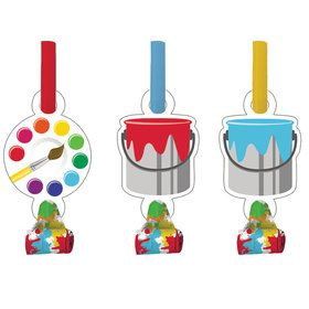Art Party Blowouts (8 Count)