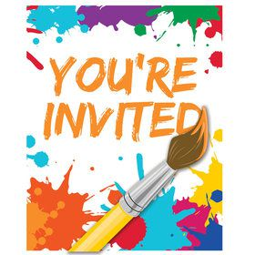 Art Party Invitations (8 Count)