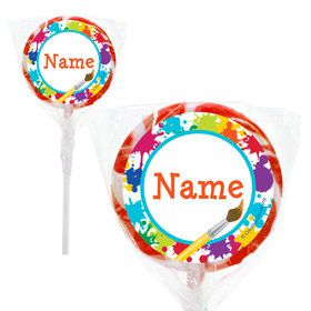 "Art Party Personalized 2"" Lollipops (20 Pack)"