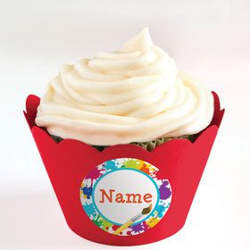 Art Party Personalized Cupcake Wrappers (Set of 24)