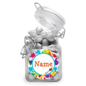 Art Party Personalized Glass Apothecary Jars (10 Count)