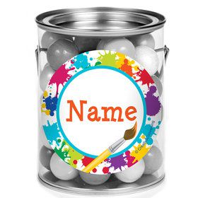 Art Party Personalized Mini Paint Cans (12 Count)