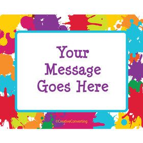 Art Party Personalized Rectangular Stickers (Sheet of 15)