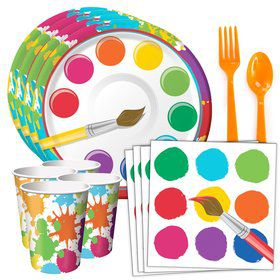 Art Party Standard Tableware Kit (Serves 8)