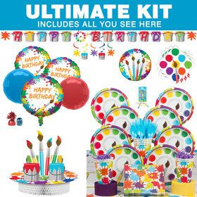 Art Party Ultimate Tableware Kit (Serves 8)