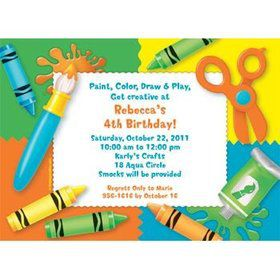 Art Personalized Invitation (each)