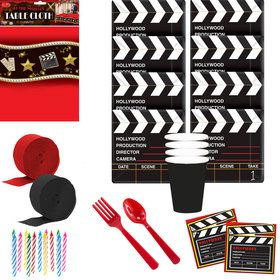 At The Movies Deluxe Tableware Kit (Serves 16)
