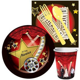 At The Movies Standard Tableware Kit (Serves 8)