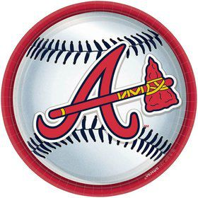 "Atlanta Braves Plates, 9"" (18 Pack)"