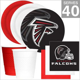 Atlanta Falcons NFL Party Supplies Deluxe Kit for 40