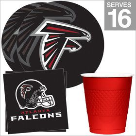 Atlanta Falcons NFL Party Supplies Standard Kit for 16