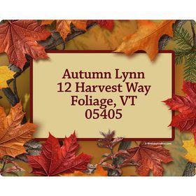 Autumn Leaves Personalized Address Labels (Sheet of 15)
