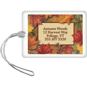 Autumn Leaves Personalized Luggage Tag (Each)